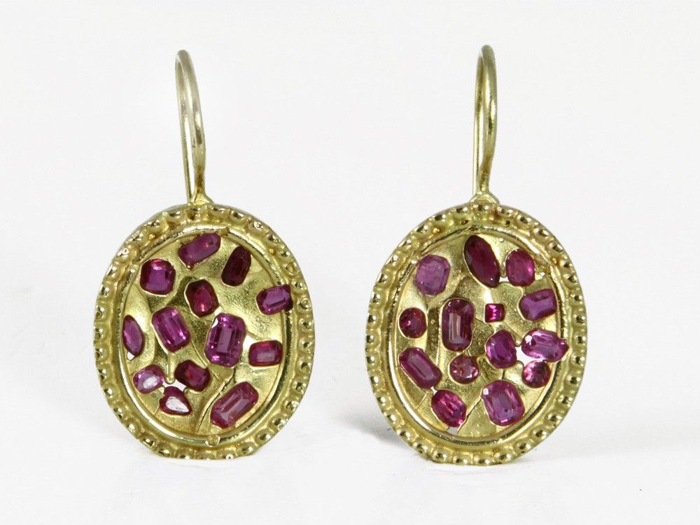 AshBlue - Oval Ruby Earrings, $1,760.00 (http://www.ashblue.com/oval-ruby-earrings/)