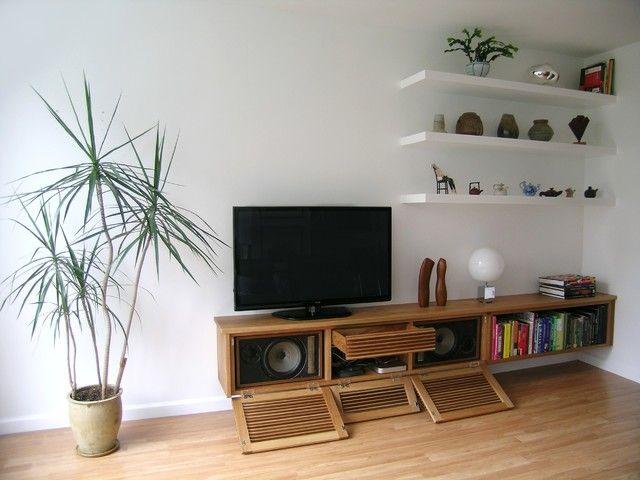 Furnituredecorating Living Room Using Stylish Floating Media Unique Cabinet Living Room Design 2018