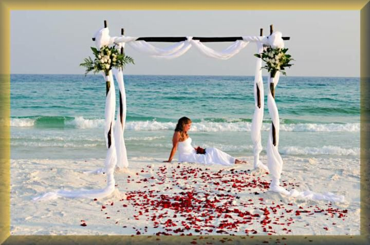 When we have our ceremony I want it to look like this-- except at sunset with candles and white lights.