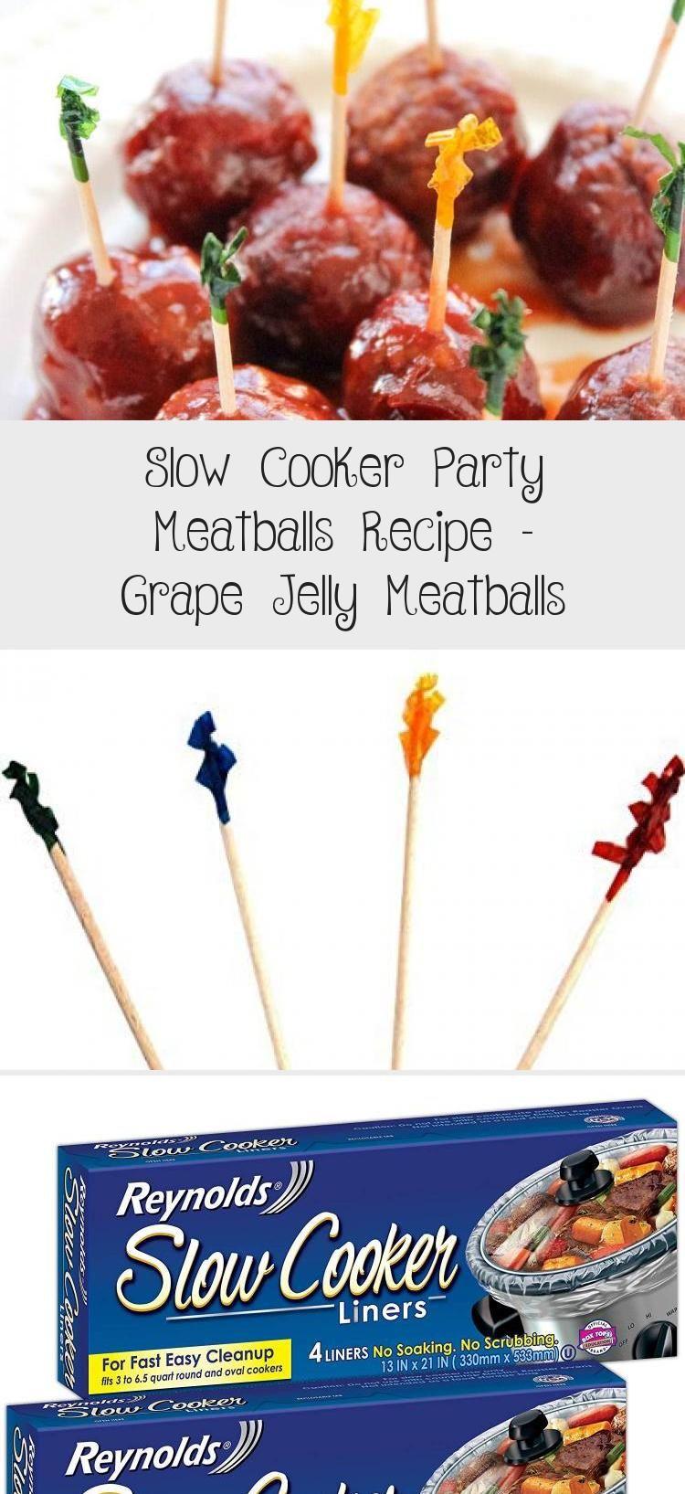 Slow Cooker Party Meatballs Recipe AKA Grape Jelly Meatballs via @mommymusings #FoodandDrinkParty #meatballswithgrapejelly