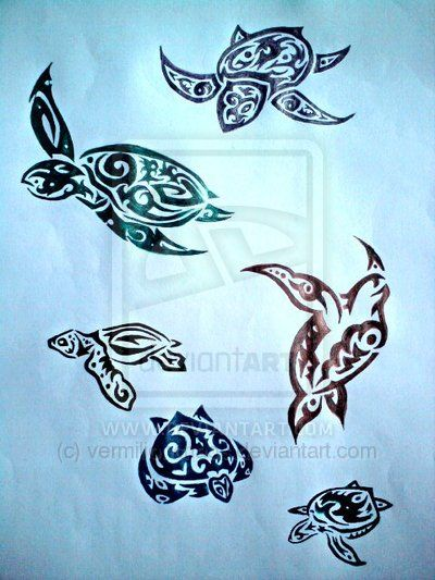 Tribal Turtles Tattoo Designs By Vermilionchaos On Deviantart Tribal Turtle Tattoos Turtle Tattoo Designs Turtle Tattoo
