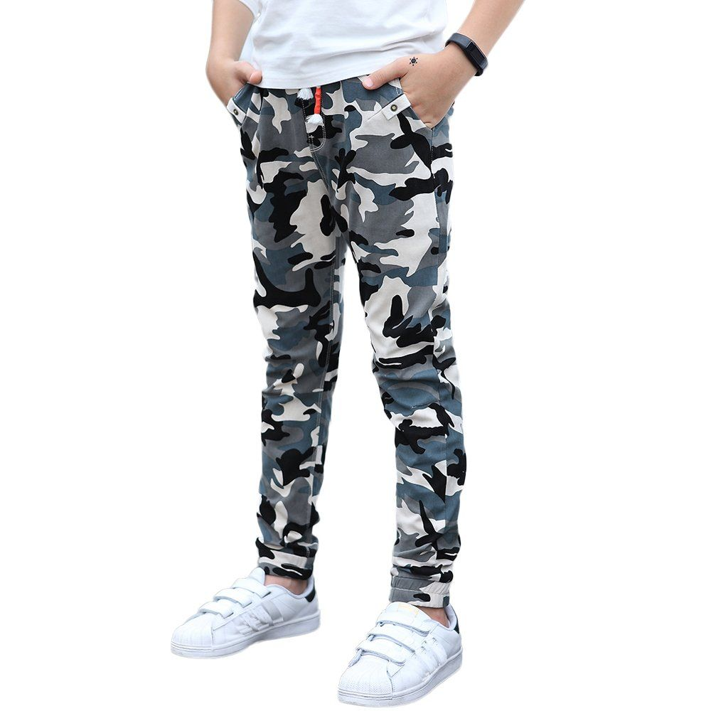 UGREVZ Boys Pants Cotton Long Teenage and Big Camouflage Casual  ClothingFD735Blue10T     Want to a4aea0249