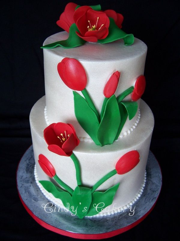 Beautiful cake by cindy's cakery, via Flickr