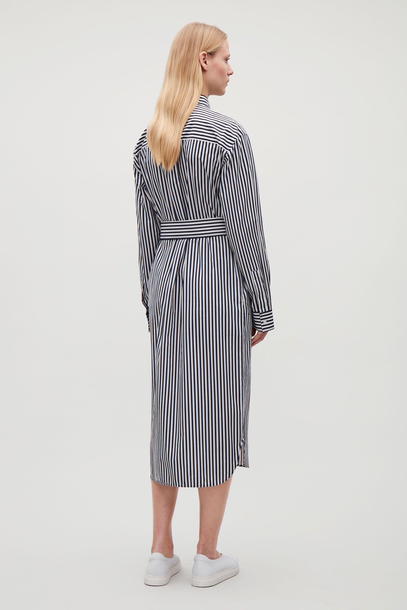 Cos Long Shirt Dress - Navy 14  00d47a211