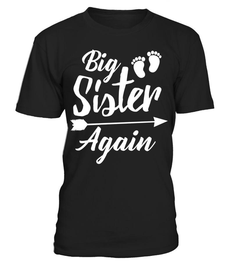 Big sister again tshirt new baby family pregnant mom shirt