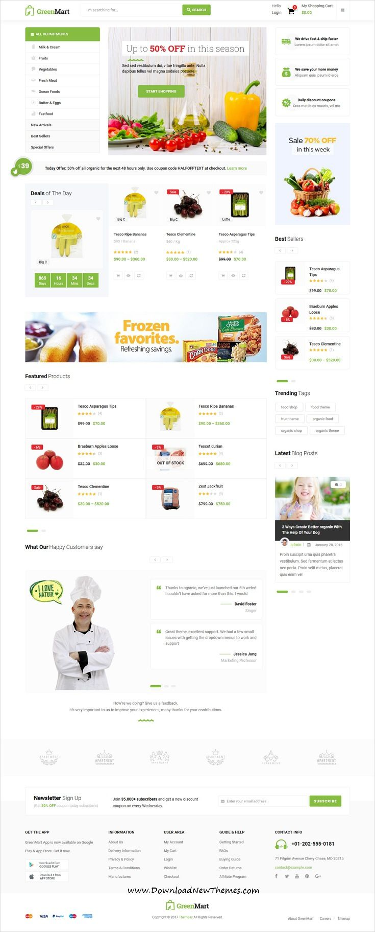 Greenmart Is Clean And Modern Design 8in1 Reponsive Woocommerce