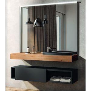 Mobile bagno sospeso doppio lavabo integrato Tulle Archeda | Bagno ...