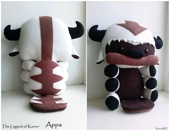 Baby Appa plush The Legend of Korra Stuffed Flying Bison