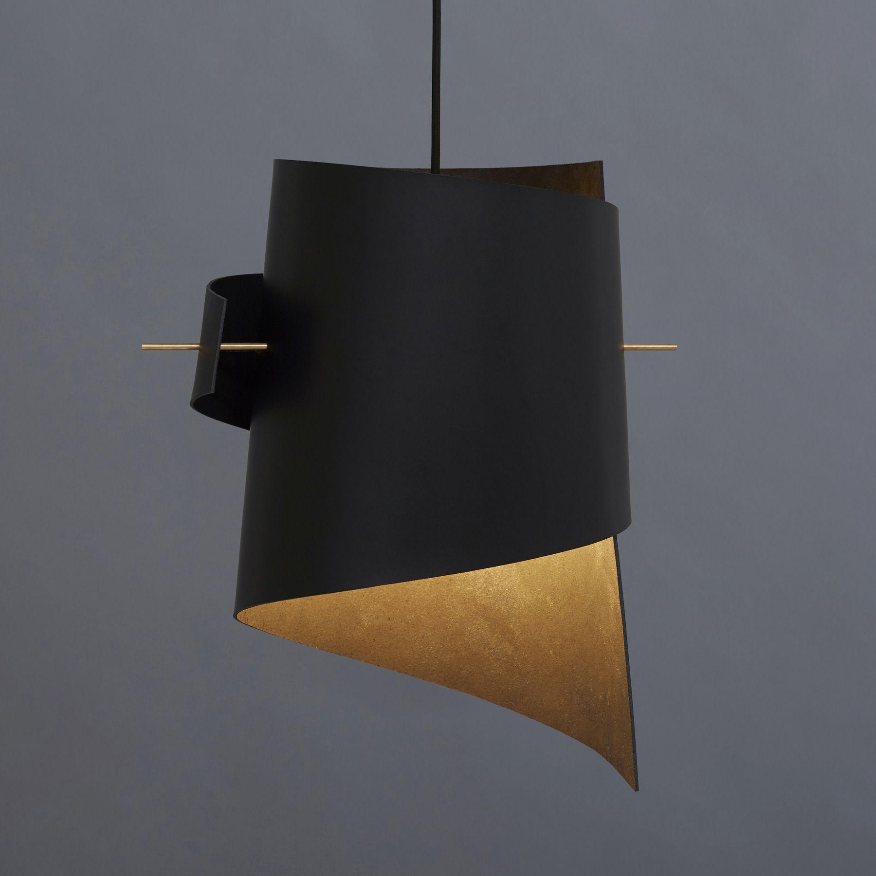 Buy Online Large Leather Black By Moijn Led Handmade Pendant Lamp Design Kristoffer Munk