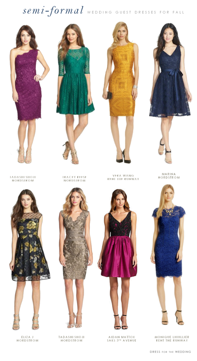 What to Wear to a Semi-Formal Fall Wedding | Wedding Guest ...