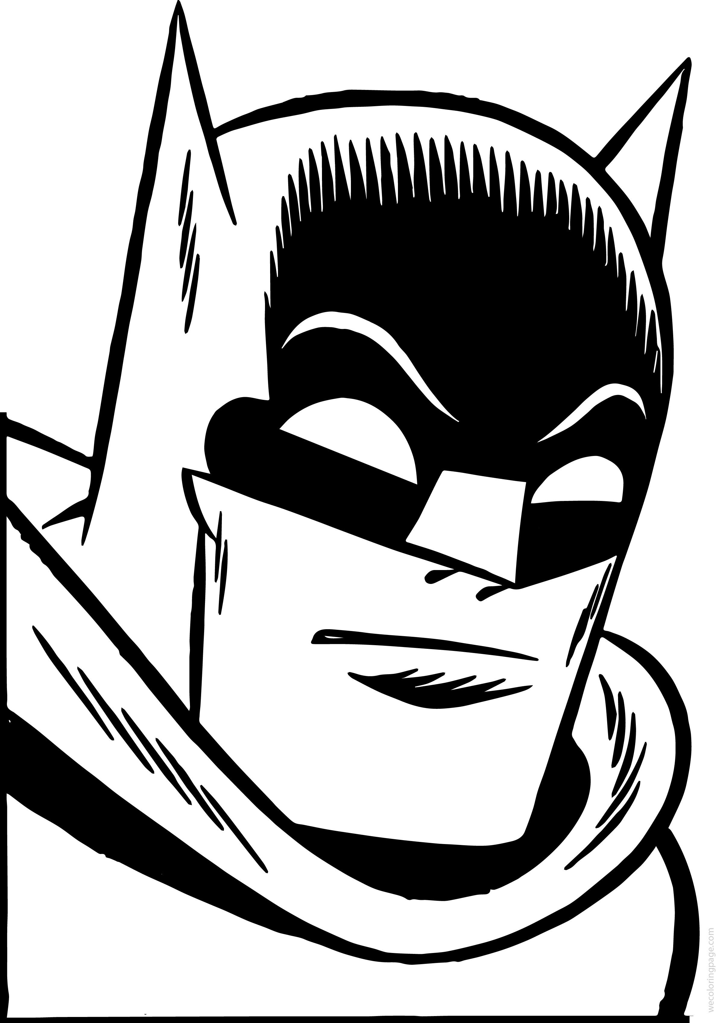 nice Batman Face Coloring Page | Coloring pages, Fnaf ...