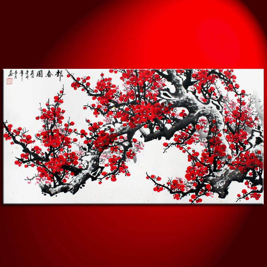 cherry blossoms painting bing