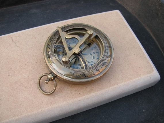 Brass Personalized Compass 62mm Nautical Boating Maritime Hiking