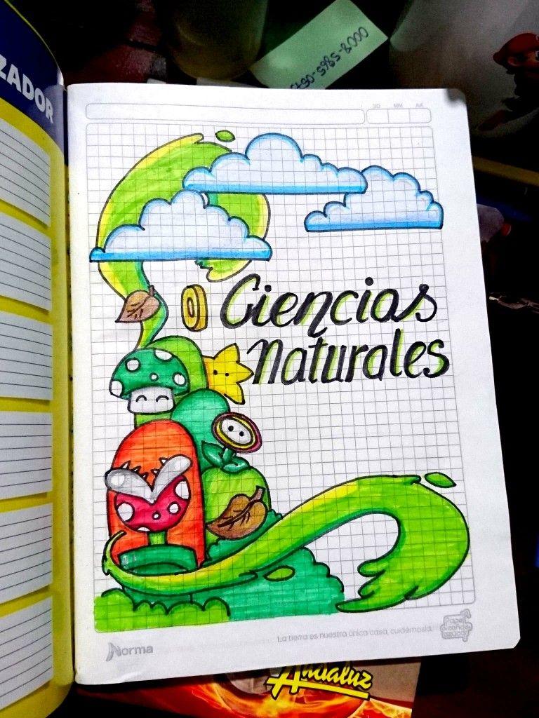 Carátulas Portadas De Cuadernos De Ciencias Naturales Para Niños Mario Bros Cuadernos De Ciencias Portada De Cuaderno De Ciencias Cuadernos De Dibujo