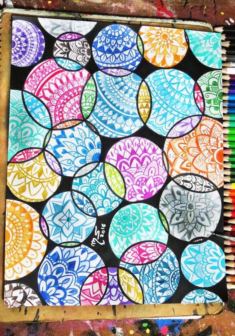 Dibujo Realizado Por Mi En 2016 Drawing By Me In Mandalas Circles And Colors Mariangel Art Deviantart On