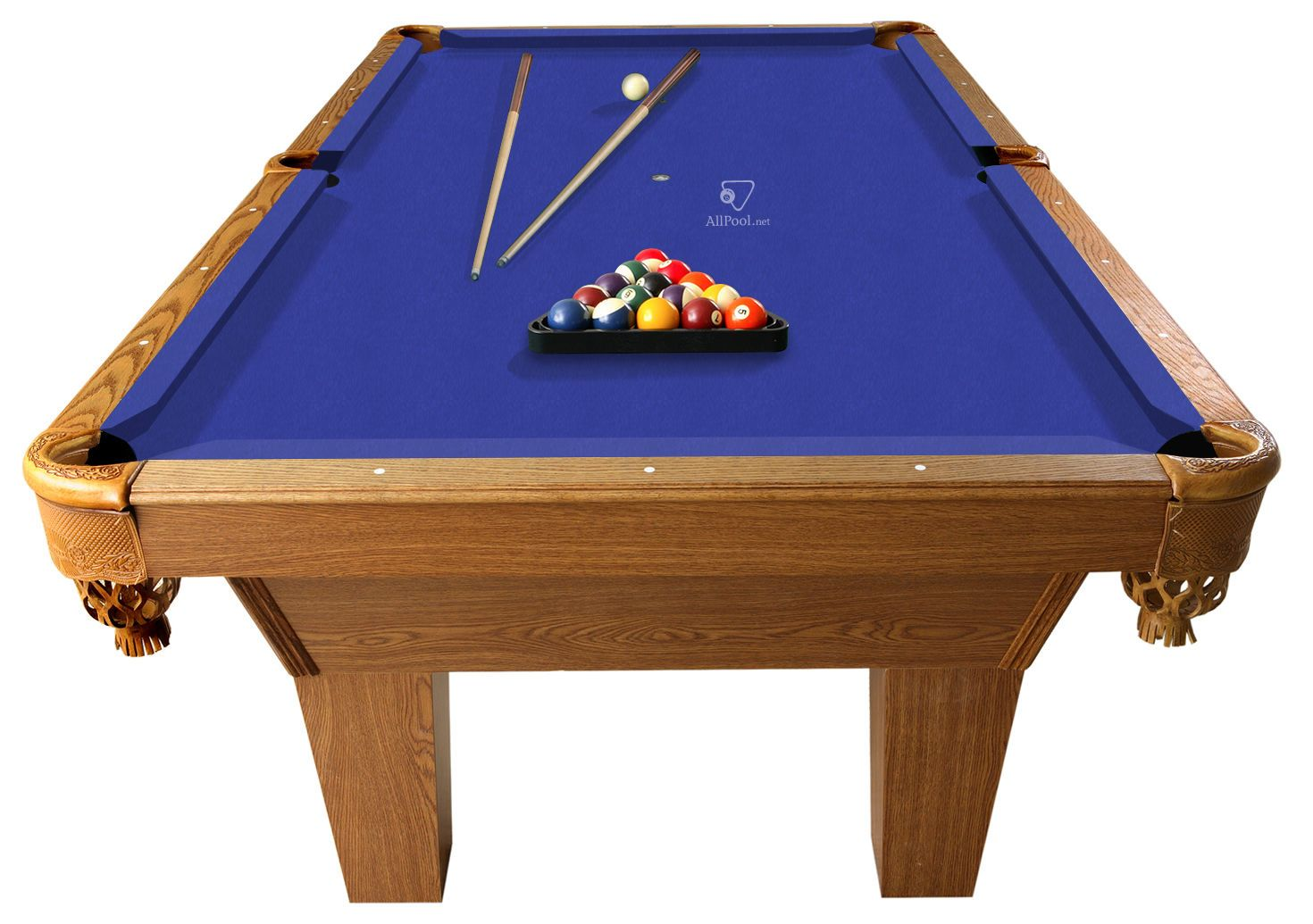 Other Billiards 1292: 7 Euro Blue Proline Classic 303 Pool Table Felt Cloth  + Chalk