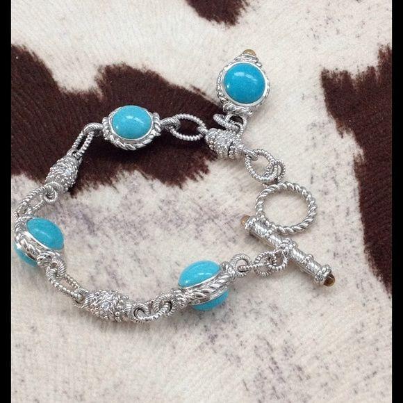 27c57bf441957 Judith Ripka SS and turquoise bracelet- Beautiful! Judith Ripka ...