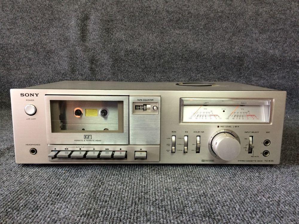 Vintage sony tck35 stereo cassette tape deck serviced