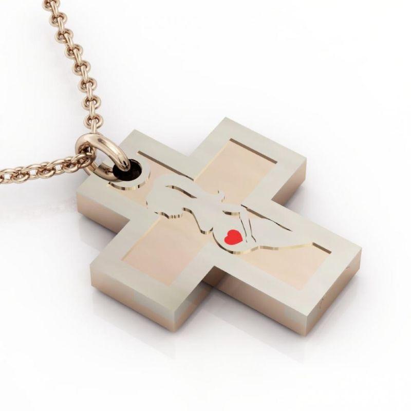 Διπλός σταυρός από επιχρυσωμένο ασήμι 925° με έγκυο γυναίκα. - Ο βασικός  σταυρός διατίθεται 9d7598bbcdd