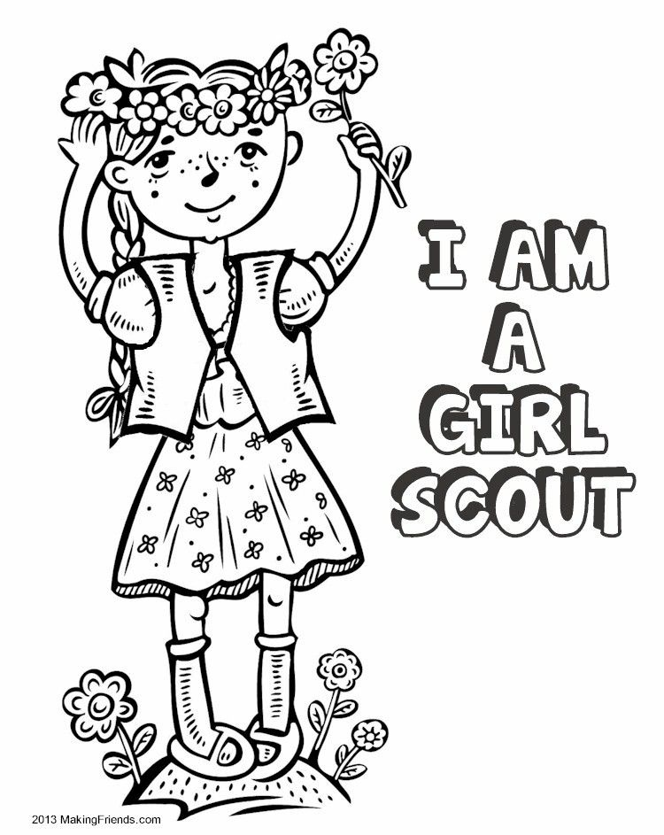 start your girl scout year having the girls color the cover of their own coloring book - Color Books For Girls