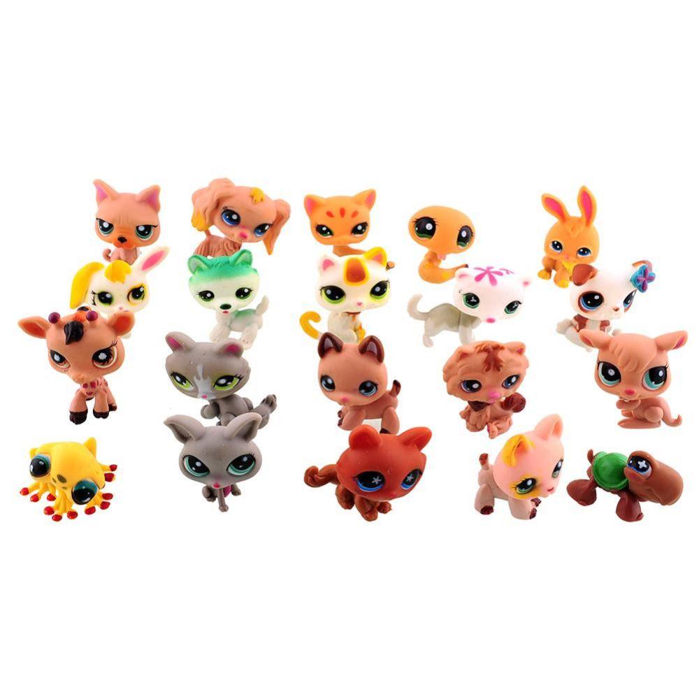 20 pz/borsa piccoli giocattoli del fumetto animale cute cat cane action figure sciolte collection bambini giocattoli regalo per i bambini
