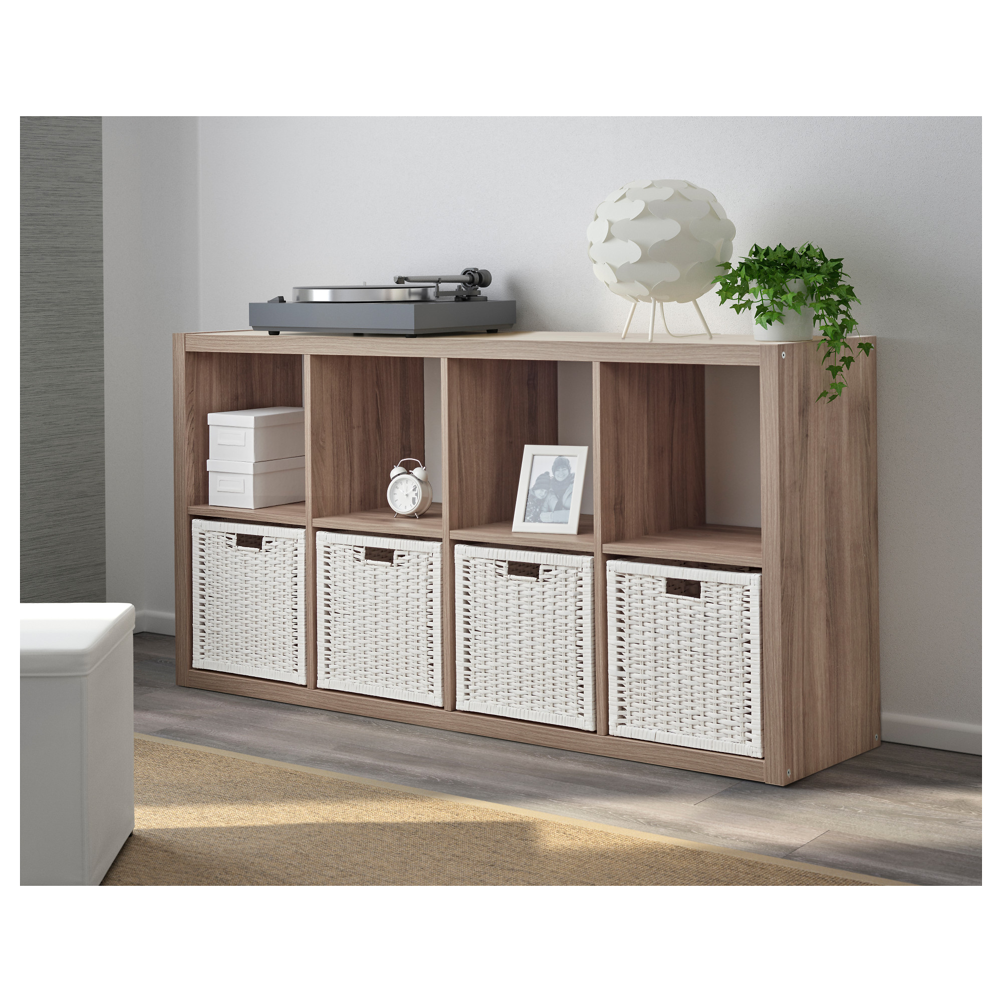 Ikea Walnut Shelves: KALLAX Shelf Unit Walnut Effect Light Gray In 2019