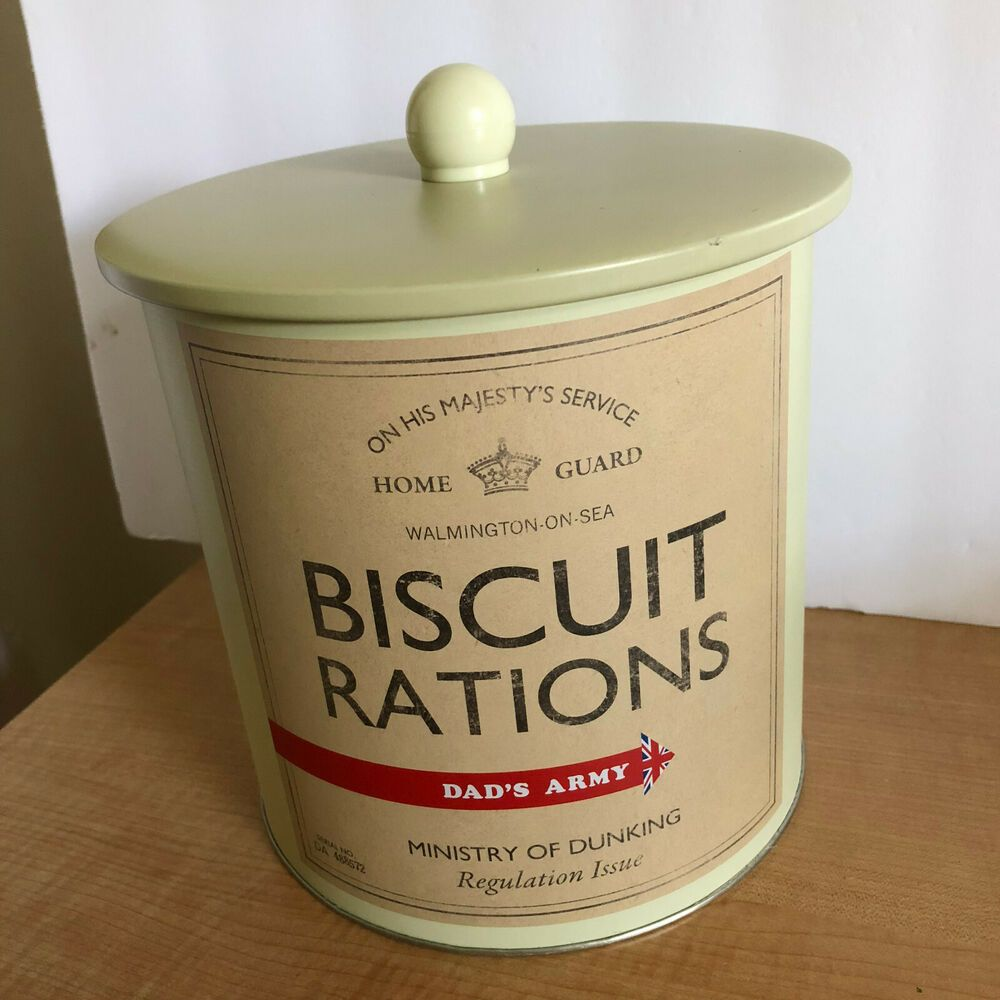 Airtight Canister Vintage Biscuit Tin White M/&W With Lid Retro Kitchen Accessories Kitchen Storage Containers Cookie Barrel Jar
