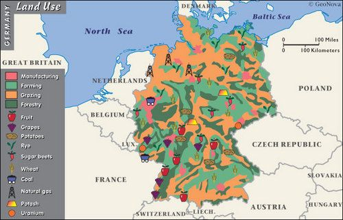 Map Of Germany Natural Resources.Natural Resource Map Of Germany Google Search Social Studies