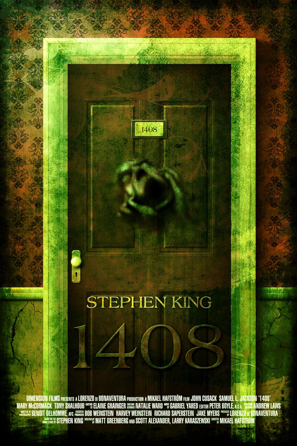 Fan made poster of stephen king 39 s 1408 by ferenc konya for Stephen king habitacion 1408