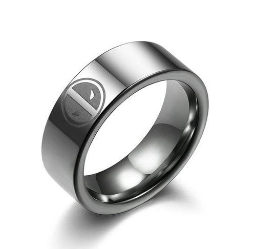 Super Hero Deadpool Stainless Steel Ring Necklace Pendant Boy Child Man Fashion Us 5 99 Mens Stainless Steel Rings Stainless Steel Rings Steel Ring
