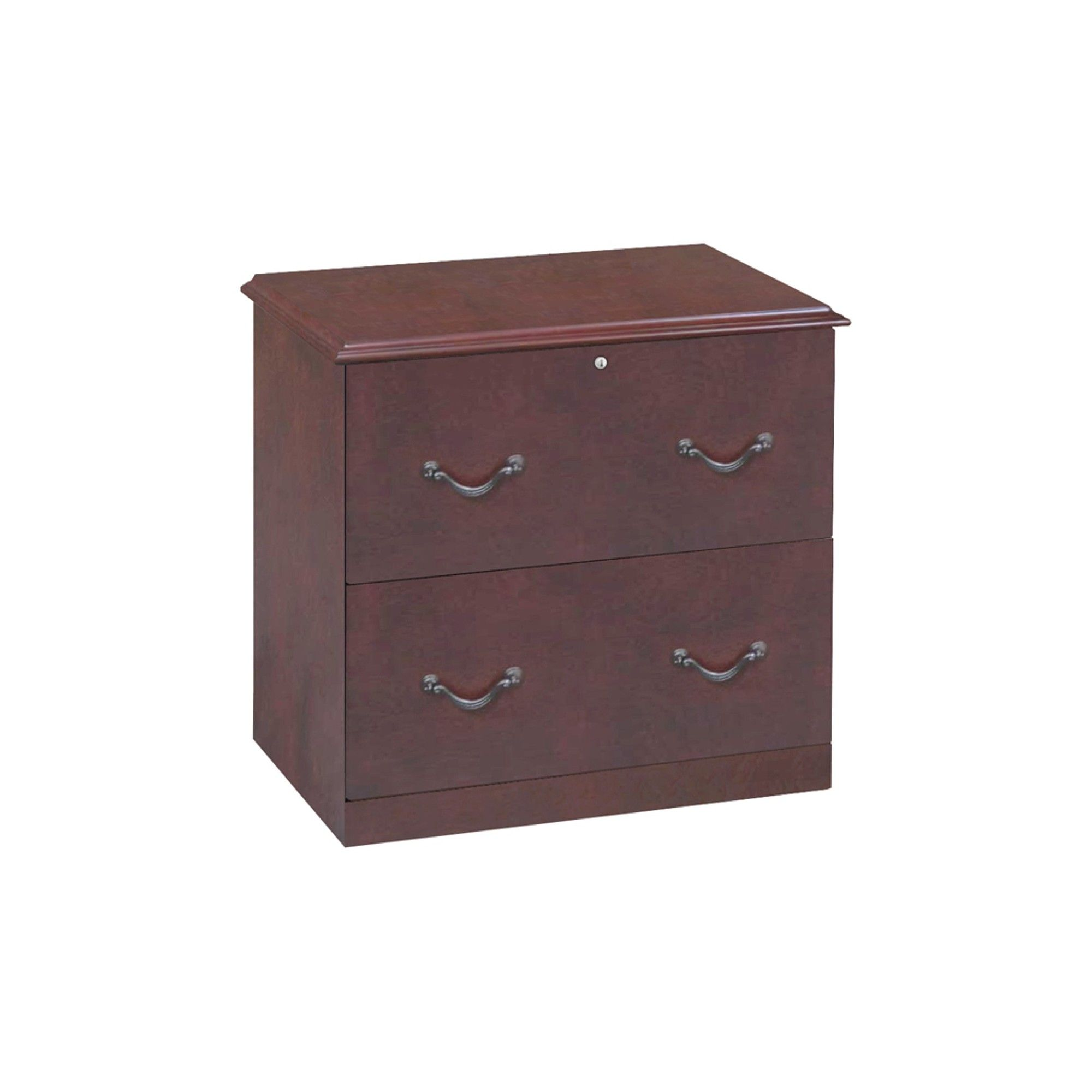 Z Line 2 Drawer Lateral File Cabinet Cherry Brown