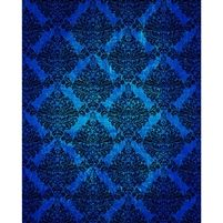 Dark Blue Grunge Damask Printed Backdrop
