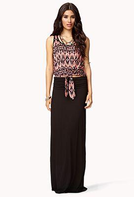 18ac1e226a Classic Fold-Over Maxi Skirt | FOREVER 21 - 2058031429 | Spring ...