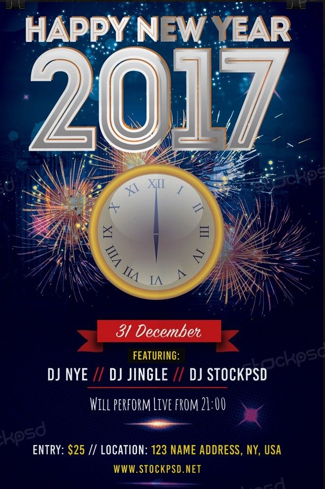 2017 Free New Years Eve – Free Psd Flyer Template - Free Psd Flyer