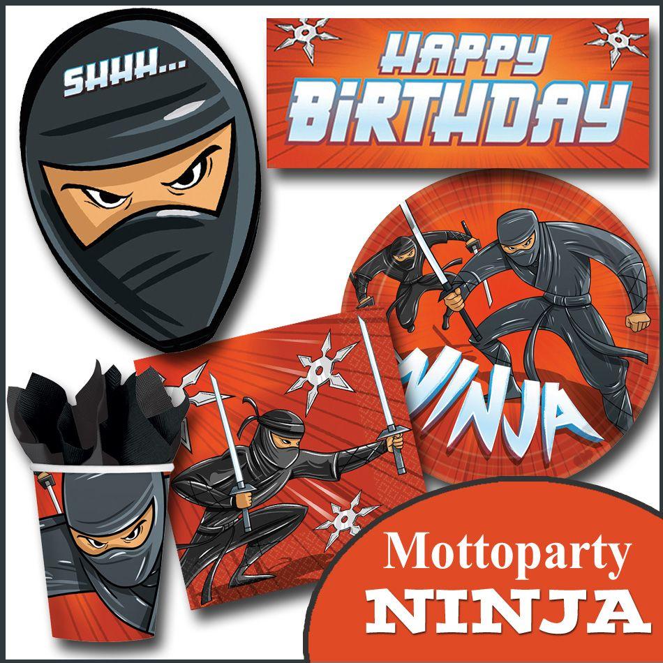 party deko kindergeburtstag ninja ninja turtles party kindergeburtstag pinterest ninja. Black Bedroom Furniture Sets. Home Design Ideas