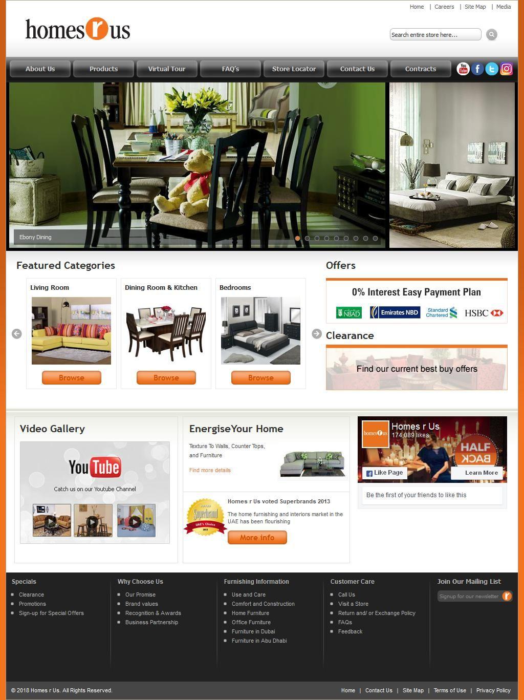 Homes R Us Furniture Company Mazaya Center, 160, Sheikh