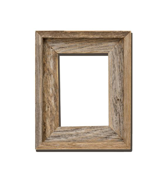 4x6 Open Style Recycled Barn Wood Picture Frame In Natural Color With All  The Knots, Nail Holes, Blemishes And Color Variations Of Rustic