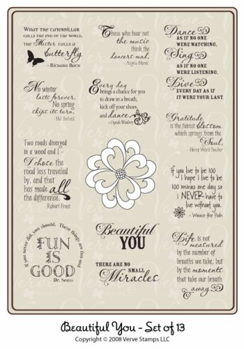 Verve Stamps: Beautiful You