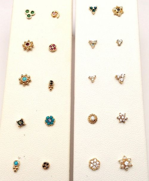 Lots of Neometal and BVLA 18g gold ends came in this week. Great for nostril piercings!