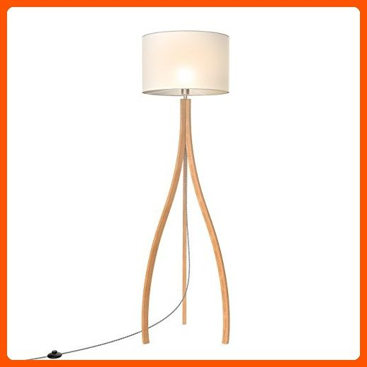 Tomons Modern Artistic Style Wood Tripod Floor Lamp White Tc Cloth Shade E26 E27 Bulb Base 160cm 63 Inch Height 1 4m 4 6 Tripod Floor Lamps Lamp Floor Lamp