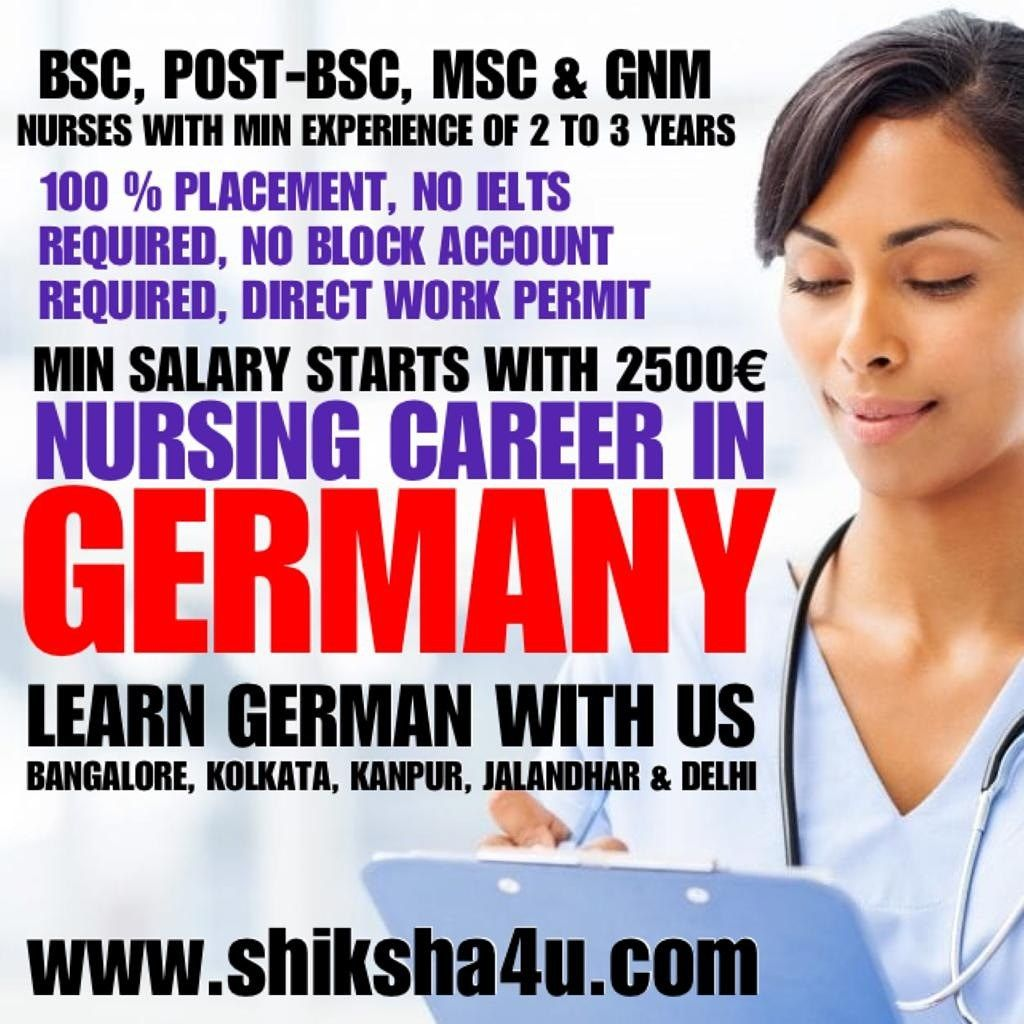 Bsc post bsc msc nurses with min 2 years of experience