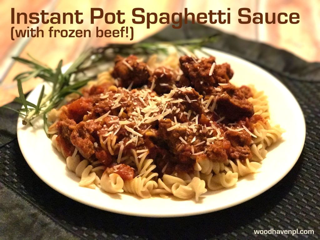 Recipe Instant Pot Spaghetti Sauce With Frozen Ground Beef Recipe Ground Beef Spaghetti Sauce Instant Pot Pasta Recipe Frozen Ground Beef Recipe