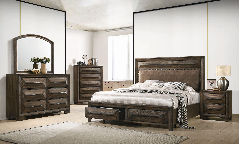 Preston 2 Drawer Storage Bedroom Set Rustic Chestnut Bedroom Furniture Bedroom Sets Queen Rustic Bedding