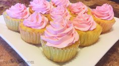 """Vanilla Cupcakes with Buttercream Frosting - Low Carb, Gluten Free, Grain Free, Sugar Free -  These moist vanilla cupcakes complete with real buttercream are as close to the """"real"""" deal as you'll get.  6g of net carbs apiece (count includes using Ideal sweetener"""