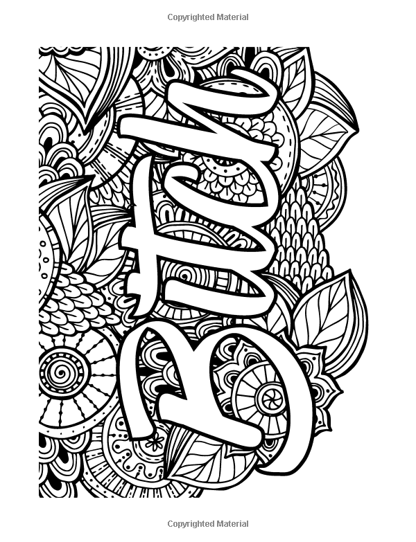 Amazon Sweary Coloring Book Swear Words Relaxation For Adults With Mandalas