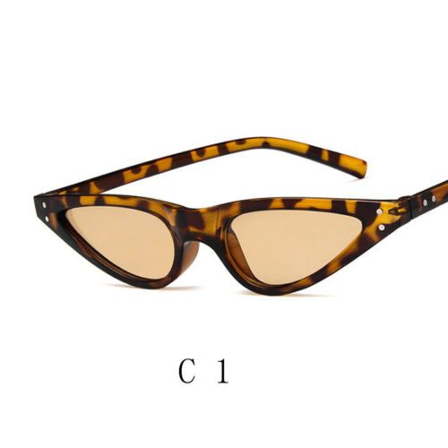 015453a6e33ea Small-Cat-Eye-Fashion-Women-Sunglasses-Flat-Top-Retro-Vintage-Clout-Goggles