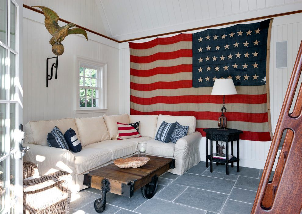 Cool Living Room Interior Design With Usa Decorations Ideas