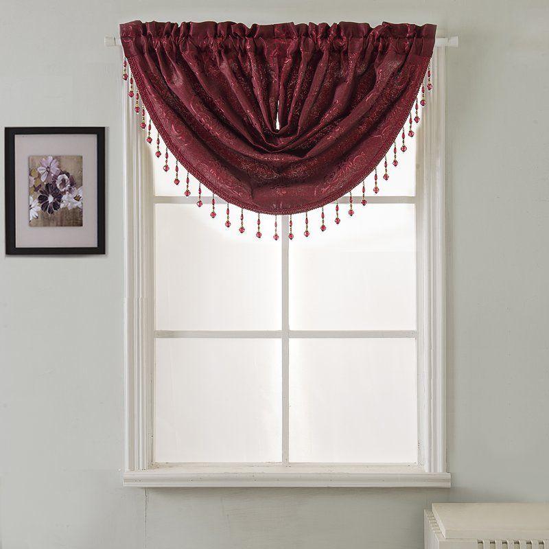 Vandervoort Shiny Jacquard Swag 47 Window Valance Valance Valances For Living Room Window Valance #swag #valance #for #living #room