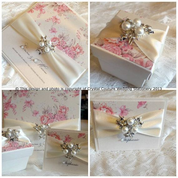 Upscale Wedding Invitations Handmade Luxury