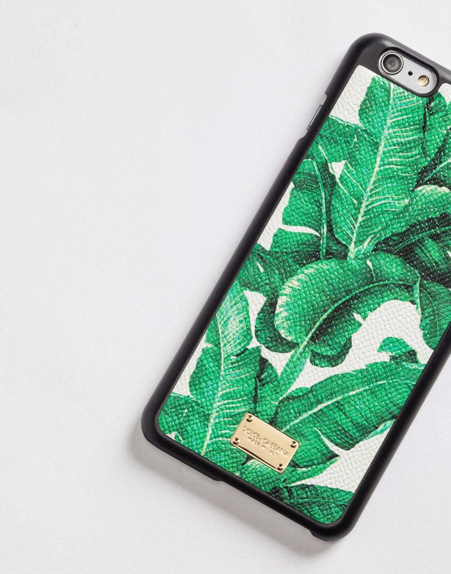 Dolce & gabbana iphone 6 plus cover with printed dauphine leather details, smartphone case women | dg online store, d&g